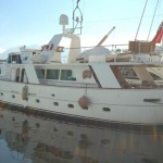 SOLD - 1973 steel displacement VOORWARTS motoryacht - 27 mt  -Navetta dislocante